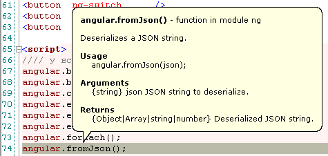 Tooltips for AngularJS functions